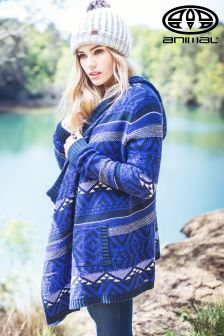 Animal Gypsy Moto Clemantis Blue Knitted Waterfall Cardigan