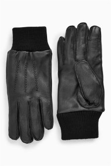 Cuff Leather Gloves