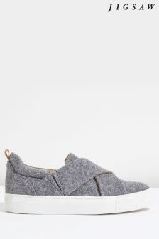 Jigsaw Grey Olivia Felt Trainer