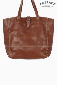 FatFace Chestnut Lily Large Shaped Buckle Tote