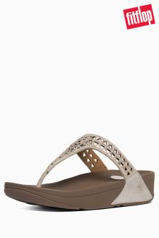 FitFlop™ Rose Gold Carmel Toe Post Sandal