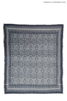 French Connection Navy Tribal Throw