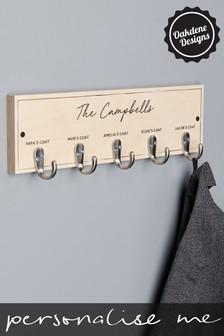 Personalised Five Hook Family Coat Hook by Oakdene Designs
