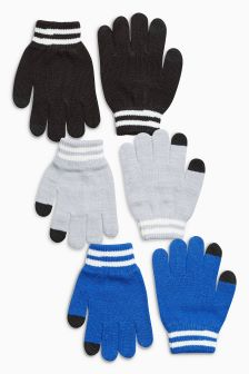 Gloves Three Pack (Older Boys)