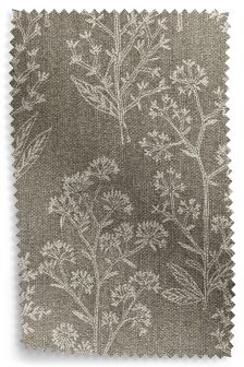 Embroidered Sprig Natural Fabric Roll