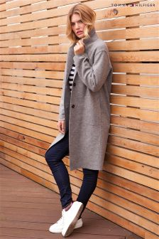 Tommy Hilfiger Grey Beth Boiled Wool Coat