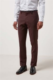 Tipped Notch Lapel Suit: Trousers