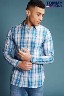 Tommy Hilfiger Denim Blue Basic Check Shirt