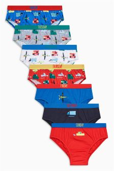 Days Transport Briefs Seven Pack (1.5-8yrs)