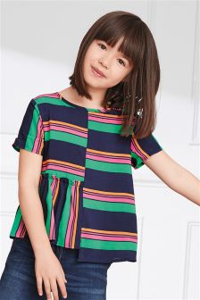 Stripe Panel Blouse (3-16yrs)