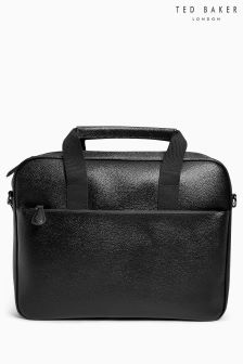 Ted Baker Black Leather Laptop Bag