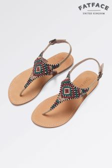 Fat Face Sand Ellis Embellished Sandal