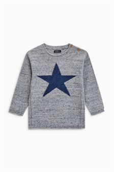 Star Crew Jumper (3mths-6yrs)
