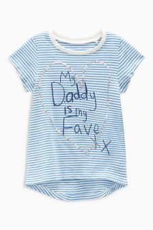 Dad Stripe Sequin T-Shirt (3mths-6yrs)