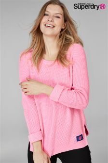 Superdry Pink Fluorescent Knit