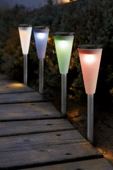 Set of 4 Solar Colour Changing Path Finders