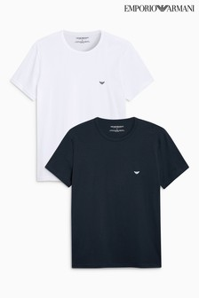 Emporio Armani White/Navy T-Shirt Two Pack