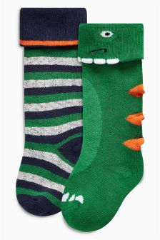 Dino Welly Socks Two Pack (Younger Boys)