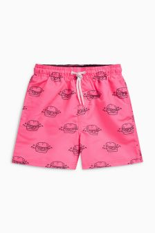 Burger Print Swim Shorts (3mths-16yrs)