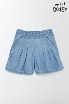 Boden Blue Pull-On Denim Short
