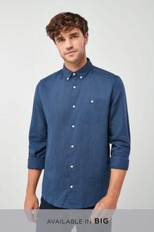 Long Sleeve Cotton Linen Shirt
