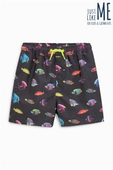 Fish Print Swim Shorts (3mths-16yrs)