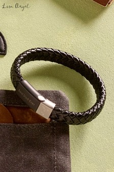 Personalised Woven Leather Bracelet By Lisa Angel