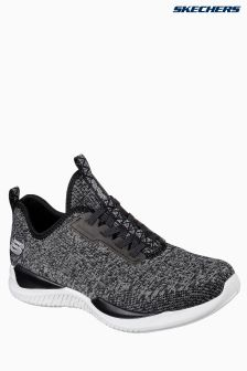 Skechers® Black High Apex Knitted Bungee Slip On Air Cooled Memory Foam