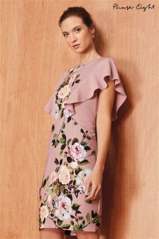 Phase Eight Rose Quartz Livvy Printed Frill Dress