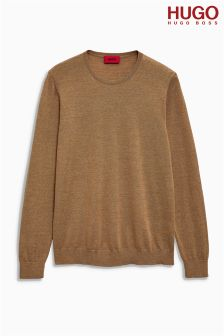 Hugo By Hugo Boss Camel Crew Knit