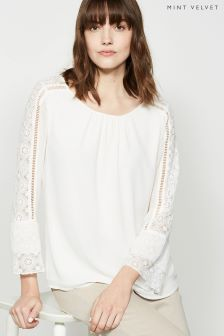 Mint Velvet Lace Sleeve Detail Blouse