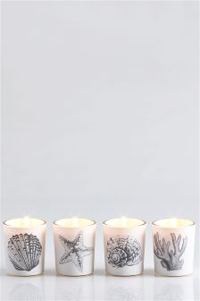 Set Of 4 Island Spa Fragranced Candles