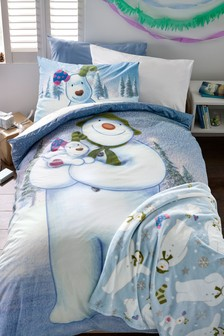 Snowman And The Snowdog Bed Set