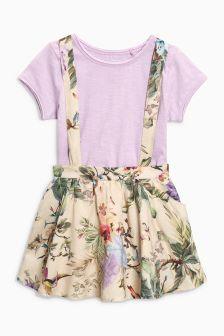 Floral Print Skirt And T-Shirt Set (3mths-6yrs)