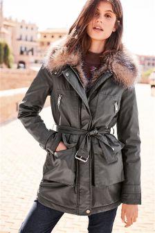Womens Faux Fur Coats & Jackets | Gilets & Body Warmers | Next UK