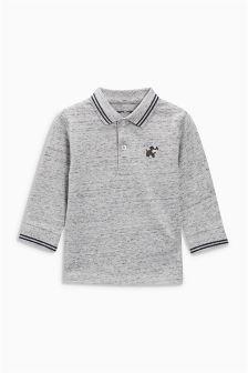 Long Sleeve Textured Polo (3mths-6yrs)