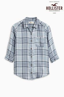 Hollister Blue Check Shirt