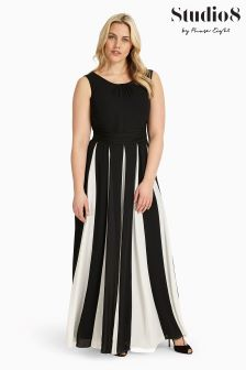 Studio 8 Black/White Bo Maxi Dress