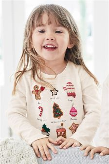 Embellished Christmas Character T-Shirt (3mths-6yrs)