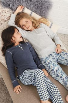 Floral And Check Pyjamas Two Pack (3-16yrs)