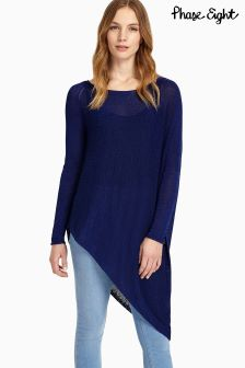 Phase Eight Ink Drina Asymmetric Tape Knit