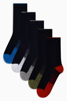 Footbed Socks Five Pack (Older Boys)