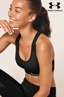 Under Armour Black Armour Mid Keyhole Bra