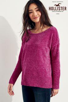 Hollister Pink Long Sleeve Knit Jumper