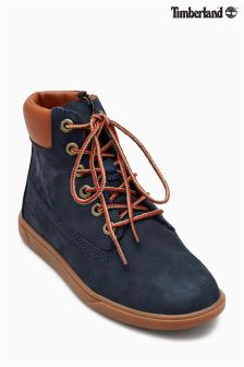 "Timberland® Navy/Tan Groveton 6"" Lace Boot"
