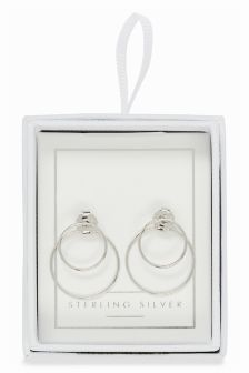 Circle Front To Back Earrings