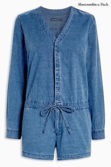 Abercrombie & Fitch Denim Button Up Playsuit
