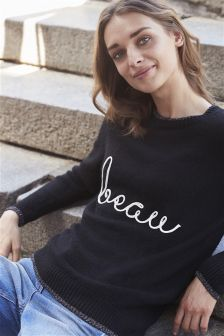 Beau Slogan Sweater