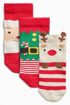 Christmas Socks Three Pack (Younger Boys)
