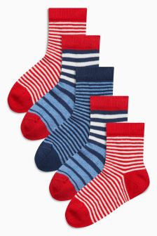 Stripe Socks Five Pack (Younger Boys)